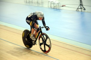 Dudley Robinson Youth Grant recipient Elissa Wundersitz at the Junior Worlds Track Cycling in Glasgow.
